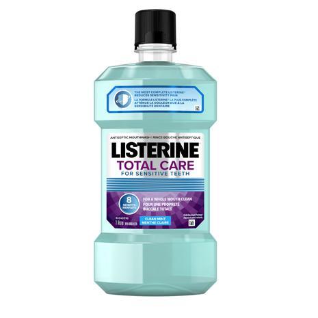 Rince-bouche Listerine Total Care pour dents sensibles