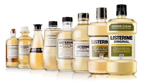 anciens flacons de Listerine