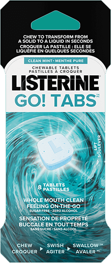 Listerine Go Tabs product bottle