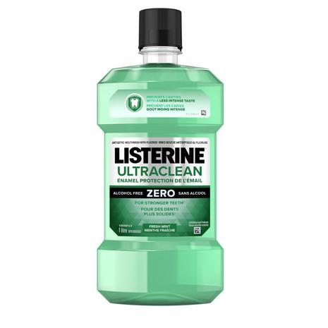 Rince-bouche Listerine Ultraclean Protection de l'émail Zero