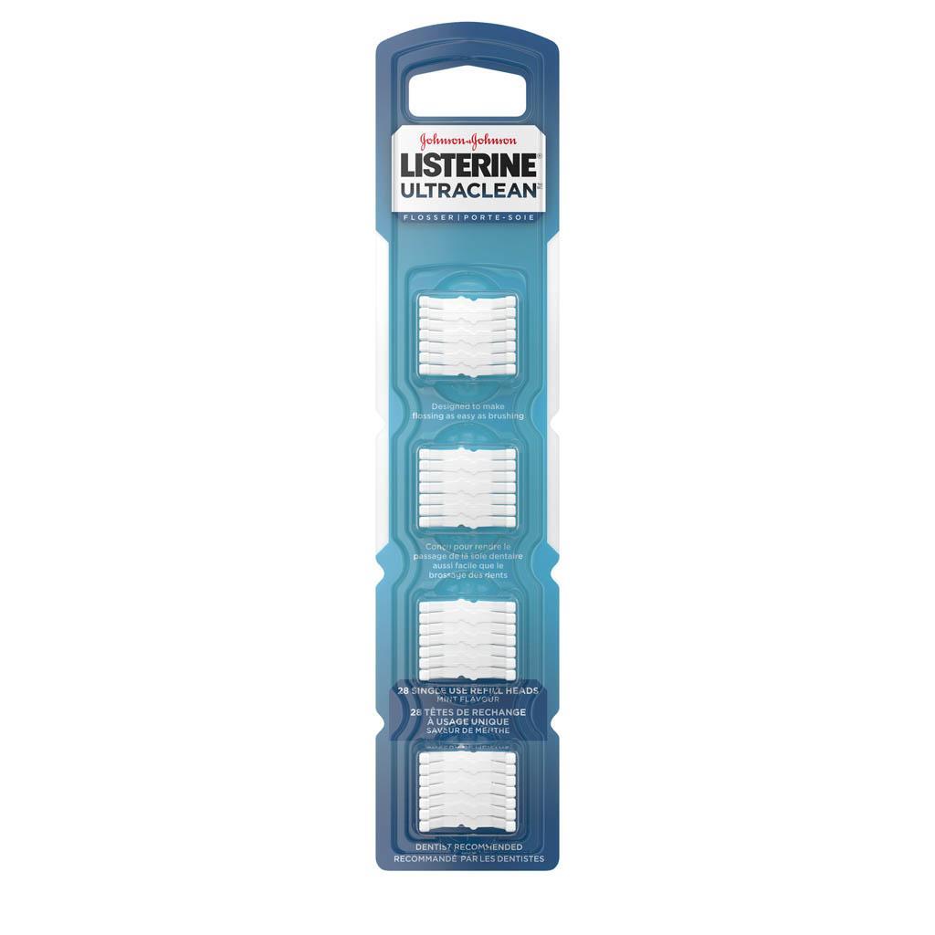 Têtes de rechange pour le porte-soie Listerine Ultraclean