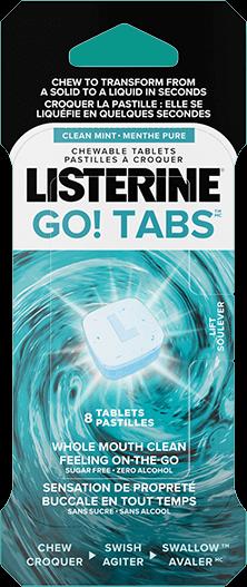 flacon du produit Listerine Go