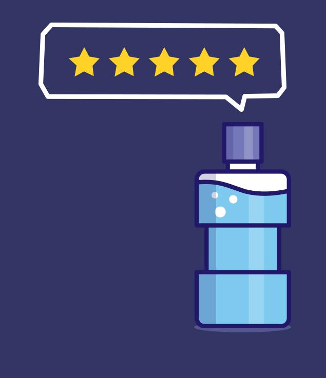 cotes et commentaires sur les produits Listerine